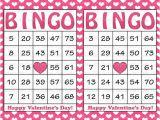 Valentine Bingo Template 30 Valentines Bingo Cards Printable Valentine Bingo Cards
