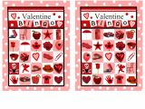 Valentine Bingo Template 6 New Valentine 39 S Day Bingo Cards for Kids
