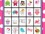 Valentine Bingo Template Free Printable Valentine 39 S Day Bingo Game Crazy Little