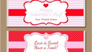 Valentine Candy Bar Wrapper Templates Valentines Day Chocolate Bar Wrappers Editable by