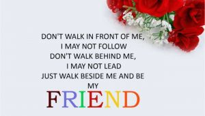 Valentine Card Greetings for Friends Wise Quote Happy Friendship Day Greeting Card Template Red