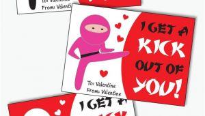 Valentine Card Ideas for School Ninja Valentines Cards for Kids Printable Karate Valentine