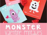 Valentine Card Ideas for toddlers Monster Valentines Free Printables with Images Monster