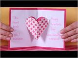 Valentine Card Kaise Banate Hai Valentine S Day Heart Pop Up Card