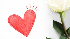 Valentine Card Roses are Red Red Heart On A Valentines Day Card Free Image by Rawpixel Com