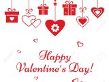 Valentine Day Card Name Edit Greeting Card for Valentine S Day Red Hearts and Gift Boxes