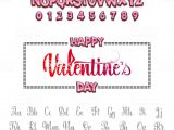 Valentine Day Card Name Edit Happy Valentines Day Font Vector Alphabet Hand Lettering