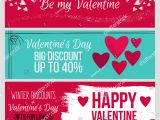 Valentine Day Card Name Edit Set Od Modern Flat Valentines Day Stock Vector Royalty Free