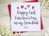 Valentine Day Card with Name and Photo Happy First Valentine S Day as My Grandfather Card