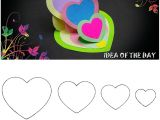 Valentine Day Greeting Card Handmade Diy Triple Heart Easel Card Tutorial This Template for