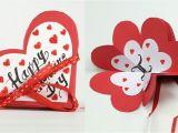 Valentine Day Greeting Card Handmade Homemade Valentine Card Diy Valentine Accordion Flip Card