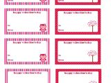 Valentine Gift Tag Template 5 Best Images Of Printable Customizable Blank Tags Free