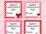 Valentine Gift Tag Template 6 Best Images Of Happy Valentine Printable Gift Tags