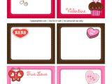 Valentine Gift Tag Template 6 Best Images Of Valentine Labels Printable Valentine 39 S