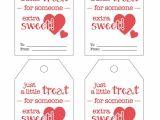 Valentine Gift Tag Template Sweet Treat Valentine Printable