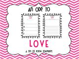 Valentine Poem Template An Ode to Love Valentine 39 S Day Poem Templates