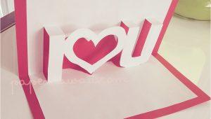 Valentine Pop Up Card Template Free Pop Up Valentines Card Template I A U Pop Up Card
