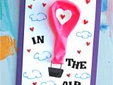 Valentine S Day Card Ideas for Kindergarten Paper Hot Air Balloon Card Diy Idea with Images Cards
