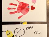 Valentine S Day Card Ideas for Kindergarten Valentines Day Hand and Footprints Will You O Fish Ally Bee