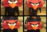 Valentine S Day Diy Card Holder Angry Bird Valentines Box Made Using A Shoe Box Paper Bag