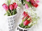 Valentine S Day Flower Card Messages Diy Valentine Free Printable Flower Bouquets Valentines