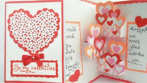 Valentine S Day Pop Up Card Diy Pop Up Valentine Day Card How to Make Pop Up Card for