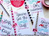Valentine Things to Write In A Card Instant Download Write Stuff Valentine S Day Card