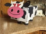 Valentine Tissue Box Card Holder Cow Valentine S Day Box for Kids toilet Paper Rolls as Legs