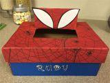 Valentine Tissue Box Card Holder Spider Man Valentine Shoe Box Boys Valentines Boxes Kids