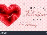 Valentine Wish Card with Name Happy Valentines Day 3d Paper Cut Stock Vektorgrafik