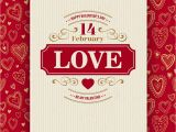 Valentine Wish Card with Name Valentines Day Typography Greeting Card Over