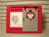 Valentines Card Diy for 5 Minutes Barn Door 01 by D Daisy at Splitcoaststampers Daisy