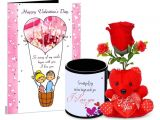 Valentines Card You are My Rock You are My Teddy Bear Valentines Day Rock Tile Frame with 1 Rose Red Teddy