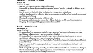 Validation Engineer Resume Validation Engineer Resume Samples Velvet Jobs