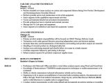 Valve Technician Resume In Word format Analysis Technician Resume Samples Velvet Jobs