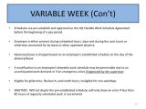 Variable Hours Contract Template Ppt Variable Week and Maxiflex Work Schedules Powerpoint