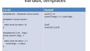 Variadic Templates C C 11
