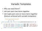 Variadic Templates C Milot Shala C Oscal2014