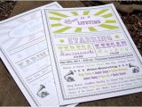 Vaudeville Poster Template Vintage Vaudeville or Circus Poster Wedding Program Sample