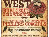 Vaudeville Poster Template Wild West Wild West Gold Rush Gala Pinterest A