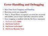 Vb On Error Resume Next Error Handling and Debugging In Vb