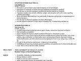 Vehicle Integration Engineer Resume Senior Electrical Resume Samples Velvet Jobs