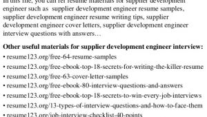 Vendor Development Engineer Resume top 8 Supplier Development Engineer Resume Samples