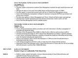 Vendor Management Resume Sample Manager Clinical Data Management Resume Samples Velvet Jobs