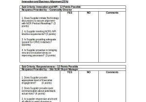 Vendor Scorecards Templates 11 Supplier Scorecard Templates Free Sample Example
