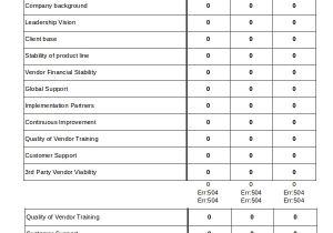 Vendor Scorecards Templates Excel Scorecard Template 6 Free Excel Documents