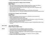 Verification Engineer Resume Integration Verification Engineer Resume Samples