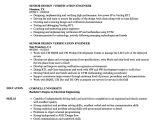 Verification Engineer Resume Senior Design Verification Engineer Resume Samples