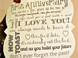 Verse for 1st Wedding Anniversary Card First Year Anniversary Dating Poem