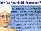 Very Easy Teachers Day Card Teachers Day Speech In English Simple Speech for Students 2019 Sarvapalli Radhakrishnan